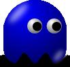 blue pac man