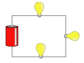 three serial lamps