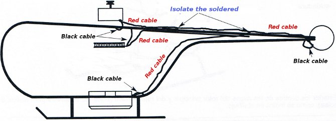 Helicopter electricity cables