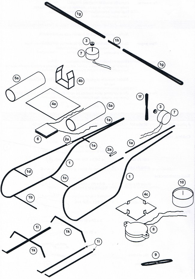helicopter pieces